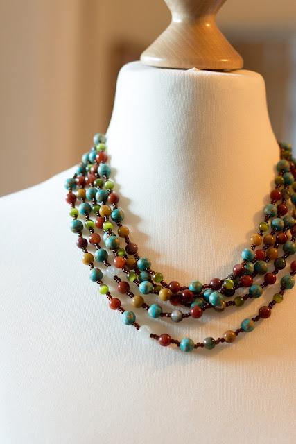 Halskette aus Quarzperlen DIY selber machen