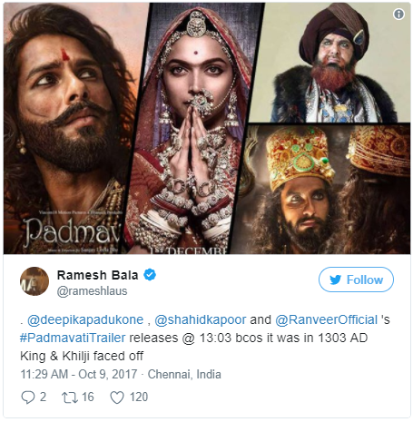 Padmavati Trailer Is Out At 13:03 You'll Be Amazed By The Reason