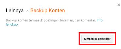 Cara Mudah Backup Semua Postingan Blogspot