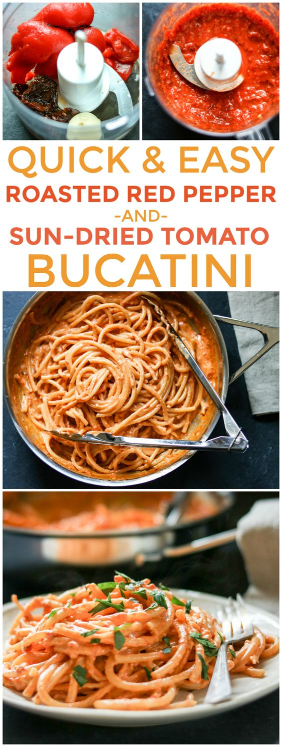 Creamy Roasted Red Pepper And Sun Dried Tomato Pasta