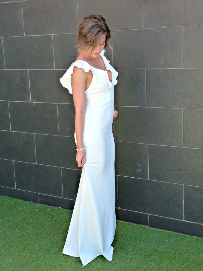 Fitness And Chicness-Top Queens Bridal White Maxidress-2