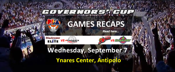 List of PBA Games Wednesday September 7, 2016 @ Ynares Center, Antipolo