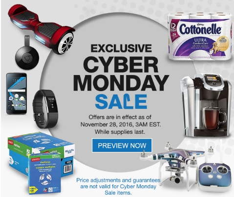 Staples Cyber Monday Preview Sale