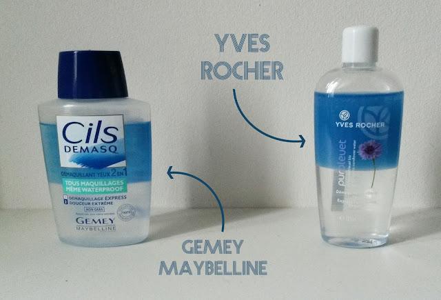 Battle Démaquillants biphasés, Gemey Maybelline VS. Yves Rocher