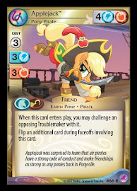 My Little Pony Applejack, Pony Pirate Seaquestria and Beyond CCG Card