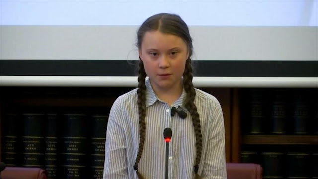Activista Greta Thunberg alerta en Italia sobre crisis climática