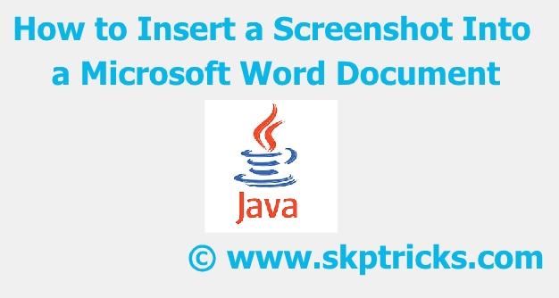 How to Insert a Screenshot Into a Microsoft Word Document in