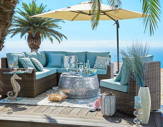 Outdoor beach paradise pier 1 catalog bliss beach for Beach porch ideas