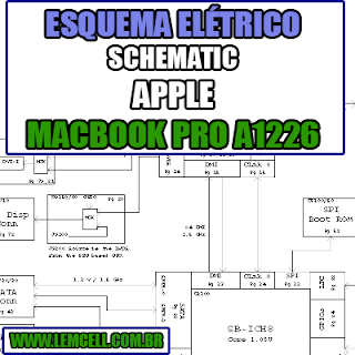 Esquema Elétrico Notebook Apple MacBook Pro A1226 Laptop Manual de Serviço  Service Manual schematic Diagram Notebook Apple MacBook Pro A1226 Laptop   Esquematico Notebook Placa Mãe Apple MacBook Pro A1226 Laptop