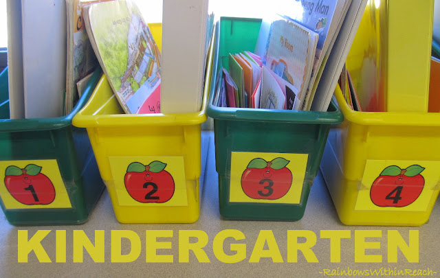 photo of: Organization in Kindergarten Classroom