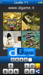 Trova la Parola - Foto Quiz con 4 Immagini e 1 Parola pacchetto 1 soluzione livello 11