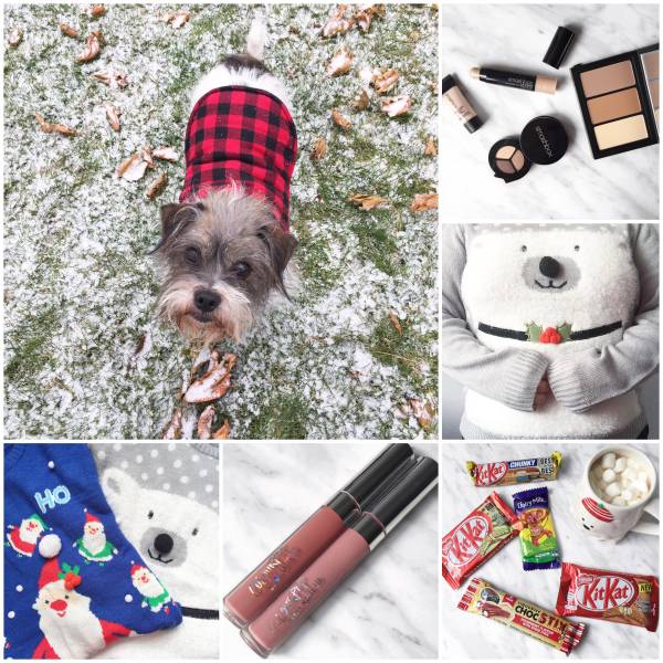 bbloggers, bbloggersca, canadian beauty bloggers, instamonth, border terrier mix, smashbox studio lighting, jysk, polar bear sweater, holiday sweater, ugly, colourpop cosmetics, bianca, echo park, australia candy, care package