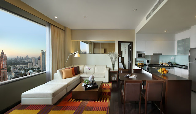 The Mayfair, Bangkok - Marriott Executive Apartments welcomes you with sophisticated serviced accommodations and a terrific downtown location.