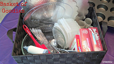 cupcake wars birthday party basket of goodies