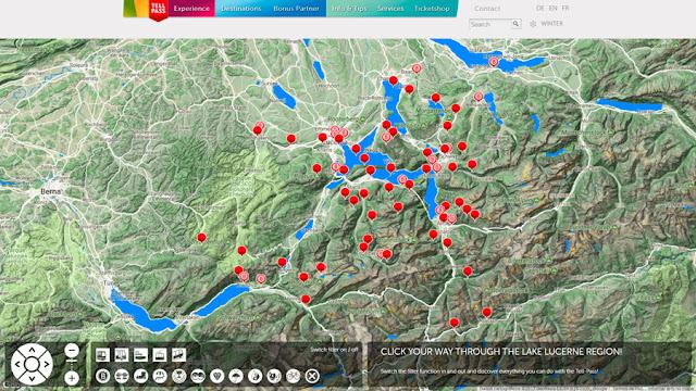 Tell Pass Mapa, Lago Lucerna, Suíça