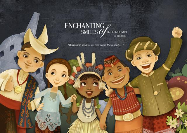 Desain Senyum Anak Indonesia