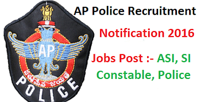 AP Police Recruitment 2016 AP Police Recruitment Notification 2016 Released