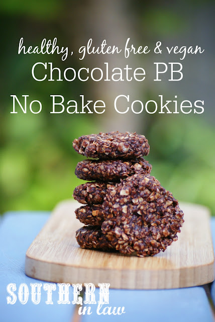 Gluten Free Chocolate Peanut Butter No Bake Cookies Recipe - healthy, low fat, gluten free, refined sugar free, clean eating friendly, no bake cookies, vegan
