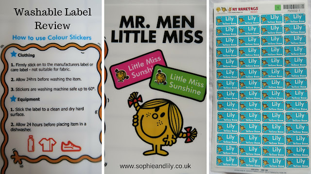 Instructuons for the Little Men and Little Miss Washable name labels