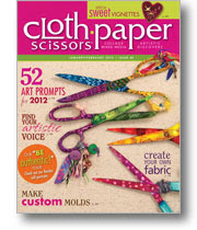 I'm puplished in the Jan/Feb 2012 Cloth Paper Scissors