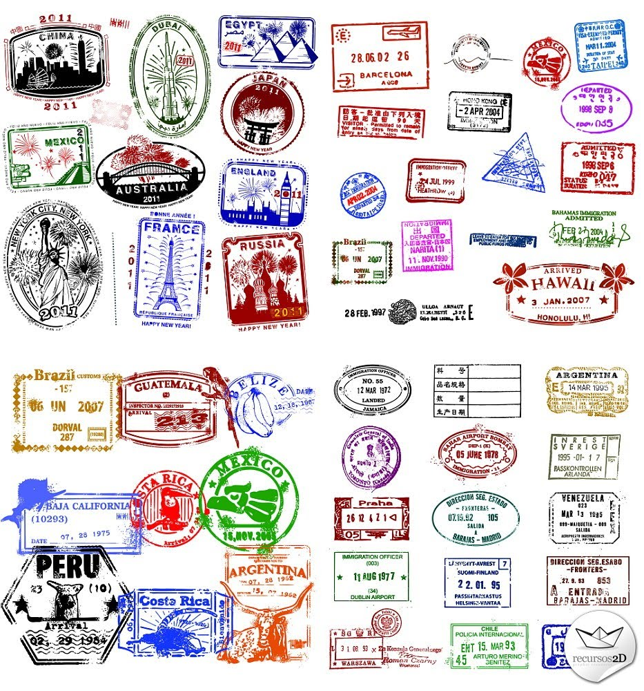 Passport stamp vector | Onward Travel Company | Pinterest ...
