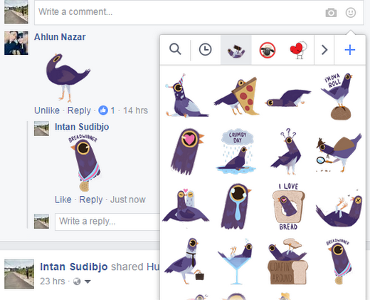 Lagi Booming Stiker Trash Doves di Facebook