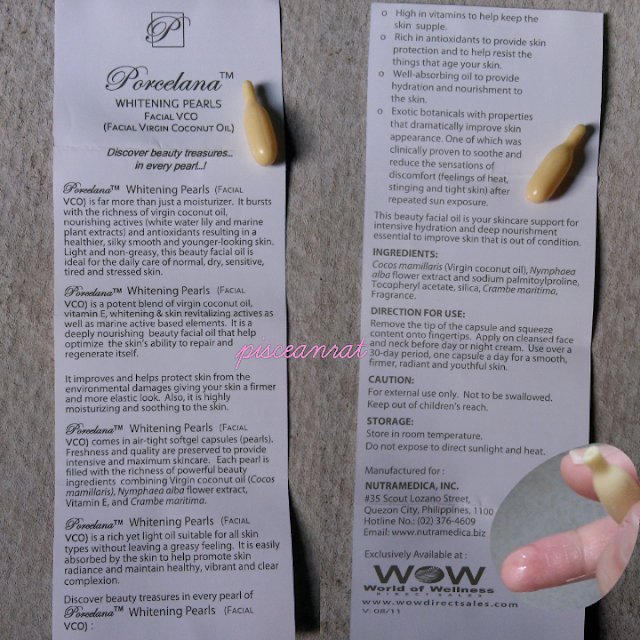 World of Wellness Porcelana Whitening Pearls