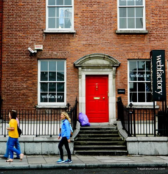 Fachada georgiana em Dublin