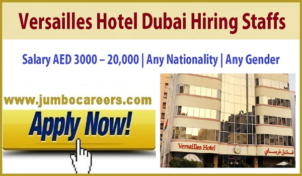 Latest walk in interview jobs in Dubai, 3 star hotel jobs in Dubai,