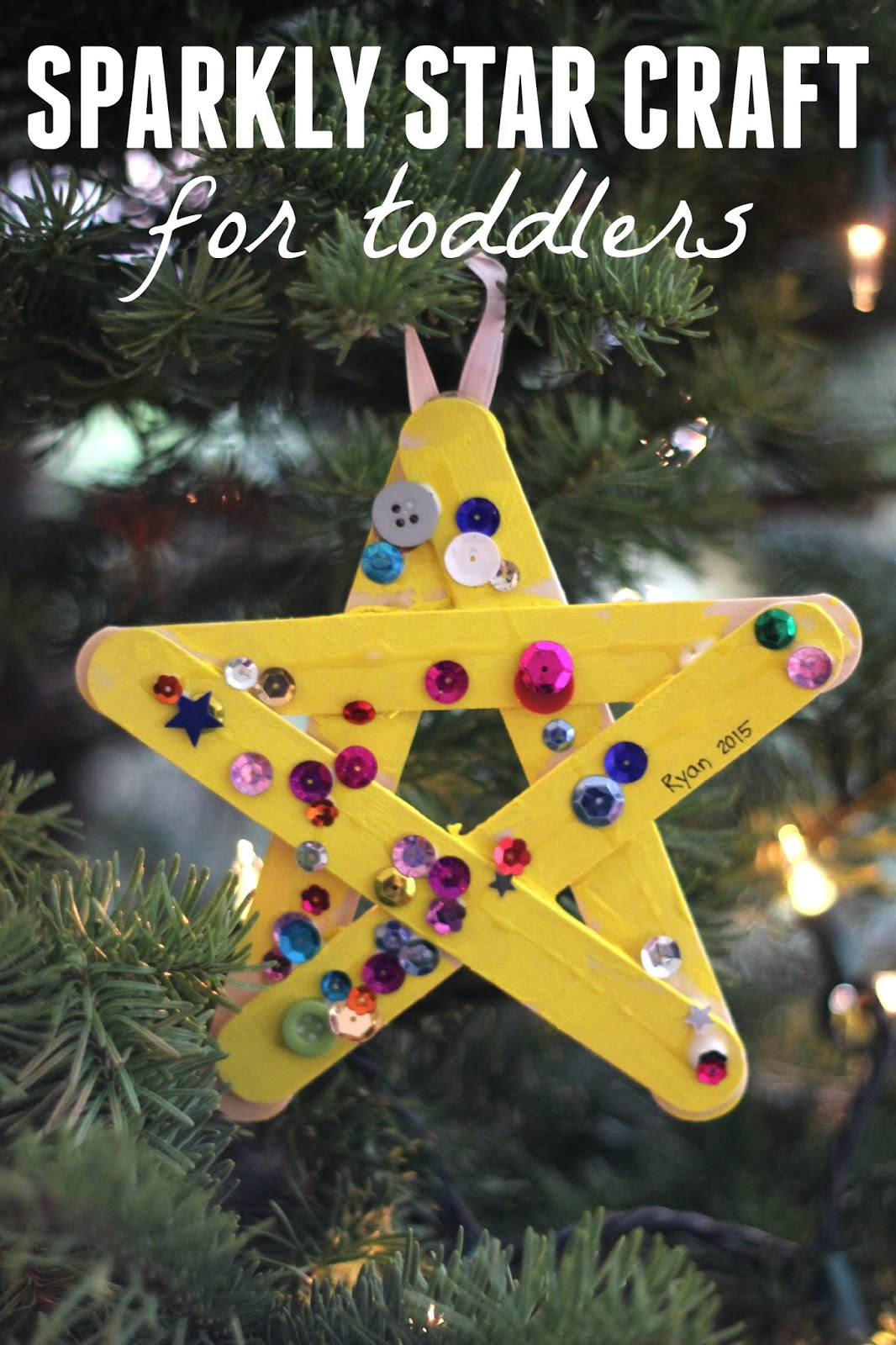 Christmas Ideas For Toddlers.Toddler Approved Sparkly Star Craft For Toddlers