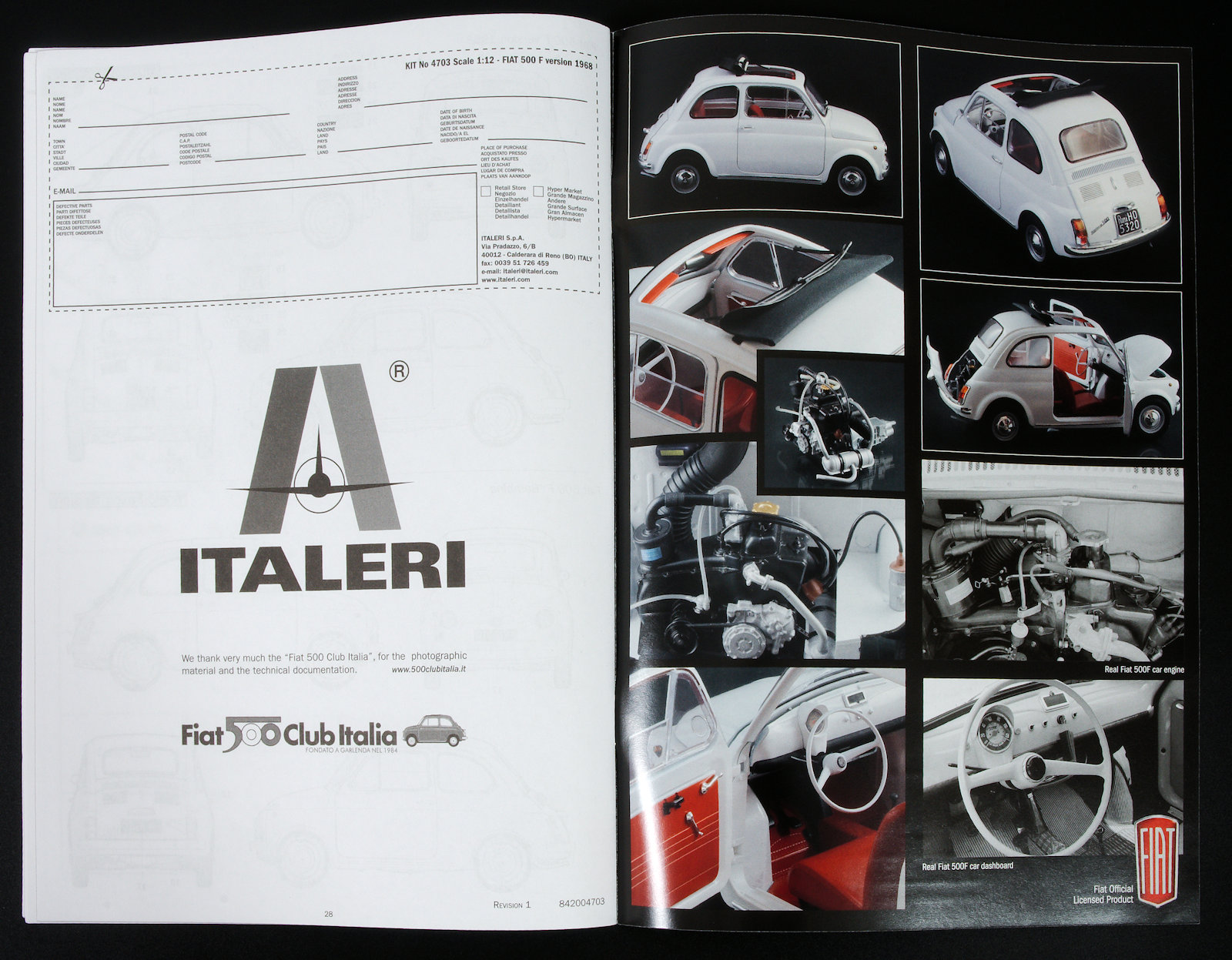 The Modelling News: In-Boxed: 1/12th scale Fiat 500F from Italeri Models