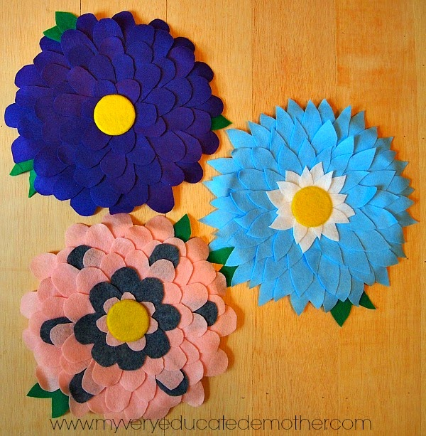 #FeltFlower #homedecor #crafting