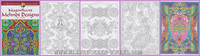 kleurboek  magnificent mehndi designs