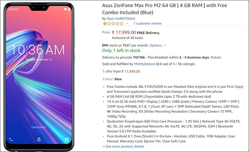Asus Zenfone Max Pro M2 # mobile2019 - review