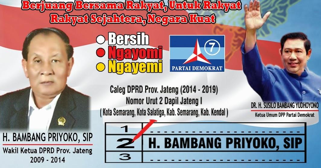 Kartu Nama Partai H Bambang Priyoko Cv Harapan Perdana
