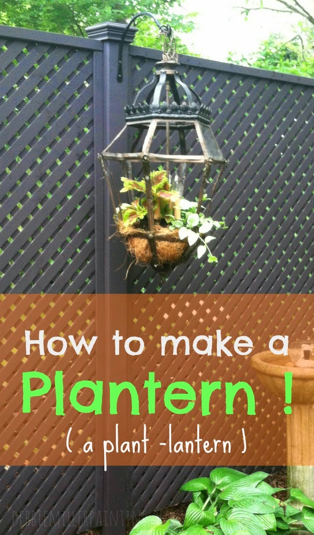 How to make a lantern, a plant lantern, garden art, Debbie Miller