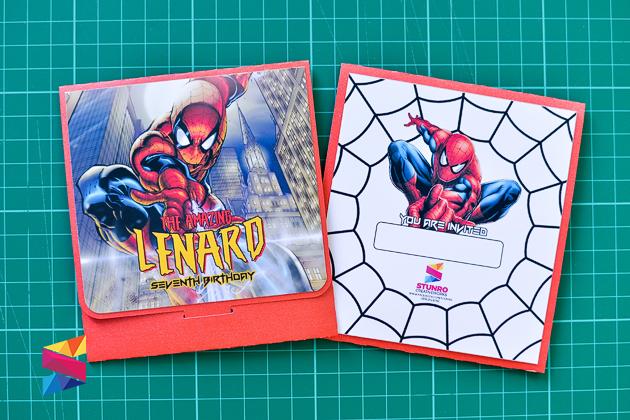 Lenard Spiderman Themed 7th Birthday Invitation