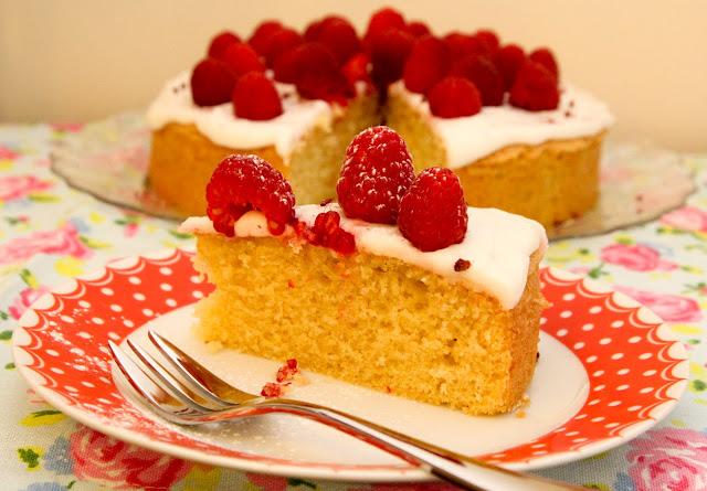 Thermomix Raspberry Sponge Cake