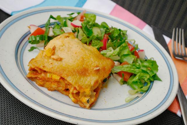 vegetarisk lasagne med bönor
