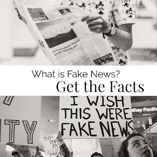 "image with people look at various media reading ""What is Fake News? Get the Facts!"""