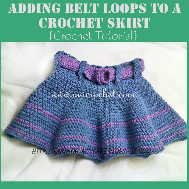 Crochet, Free Crochet Pattern, Crochet Belt Loops, How to Add Belt Loops to Crochet Project, Crochet Tutorial,
