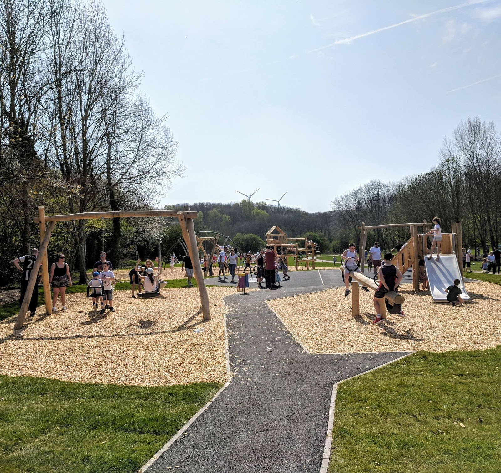 Plessey Woods Art Trail, Play Park and Cafe Opening Hours  - toddler swings