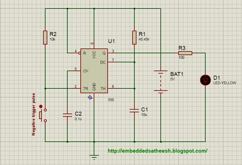 Pwm Solar Charge Controller Circuit Diagram 2003 Jetta Monsoon Radio Wiring Using Pic16f877a Simple Embedded Solutions Figure 1 Monostable