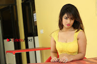 Cute Telugu Actress Shunaya Solanki High Definition Spicy Pos in Yellow Top and Skirt  0567.JPG