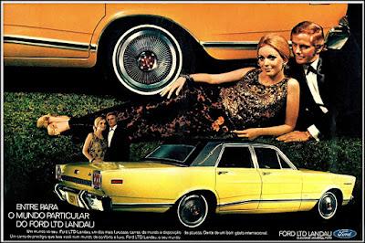 Propaganda Ford LTD - Landau - 1971, Ford-Willys anos 70, década de 70, Ford, Oswaldo Hernandez, década de 70, carros anos 70,