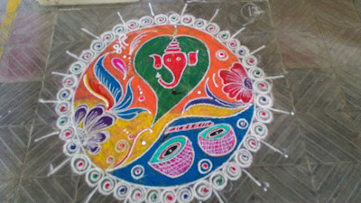 Decorative Circle Rangolis
