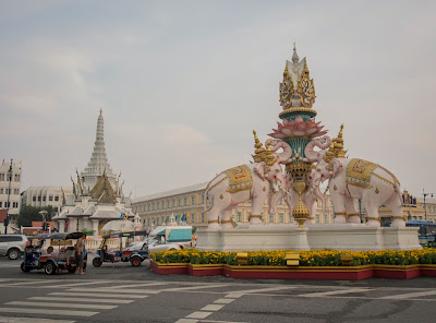 City pillar in Bangkok