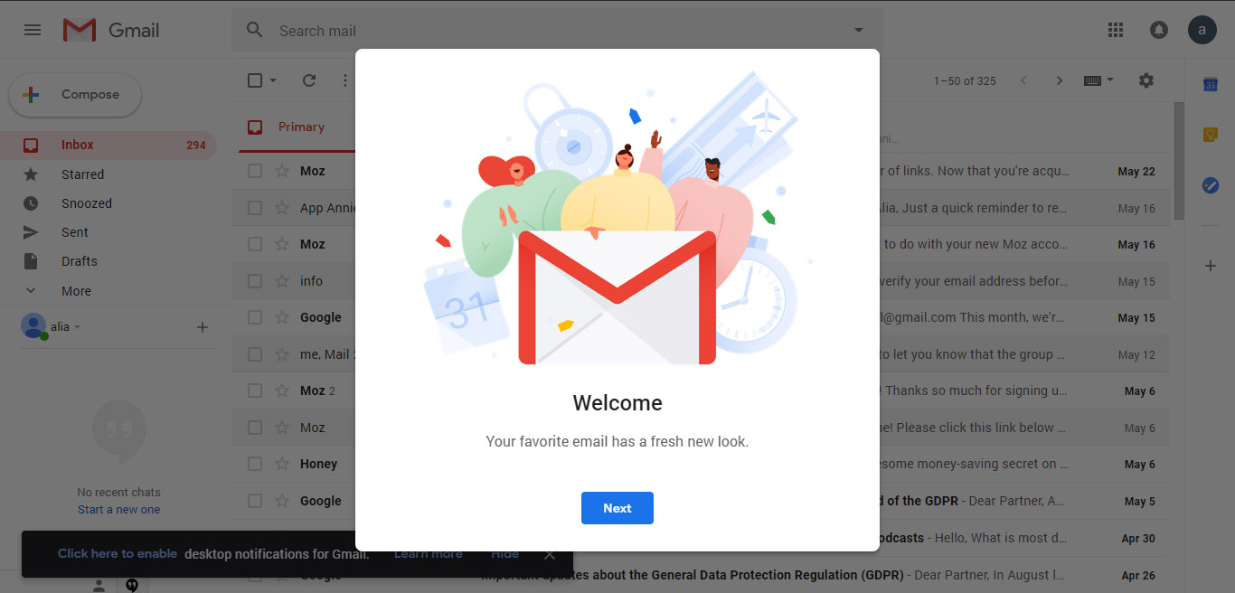 new gmail interface features