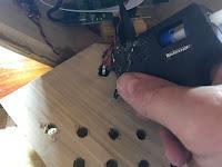 Gluing in the power socket