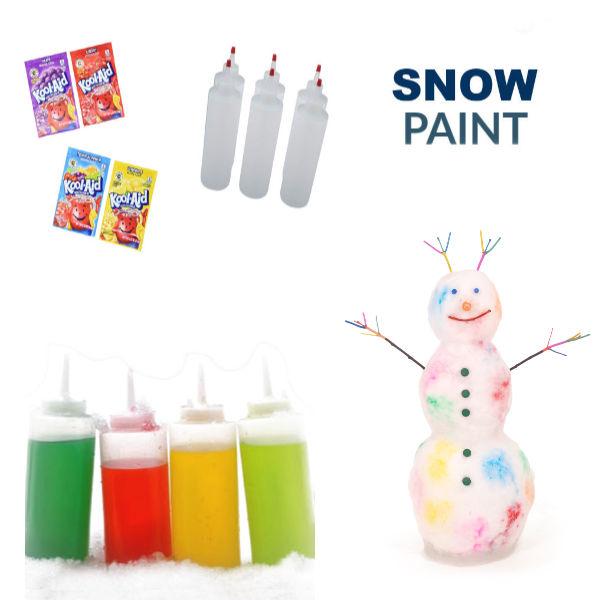 2-INGREDIENT SNOW PAINT- SO FUN! #snowpaint #snowpaintrecipe #koolaidsnow #koolaidsnowpaint #snowpaintforkids #snowpainting #snowpaintingforkids #paintthesnow #snowplay